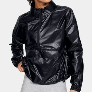 New Under Armour Pullover Anorak Jacket Black